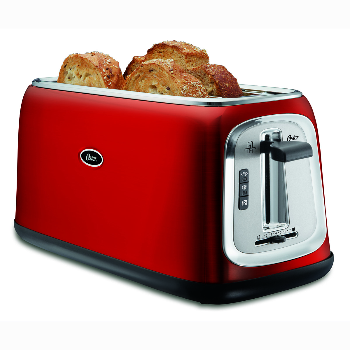 Kitchen Collections Appliances Small Oster 4 Slice Long Slot Toaster Red Metallic Tssttrjb30r
