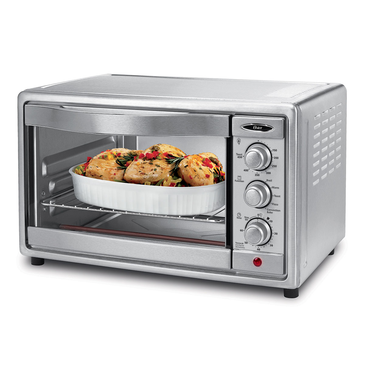 Oster TSSTTVRB04 6-Slice Convection Toaster Oven, Brushed St