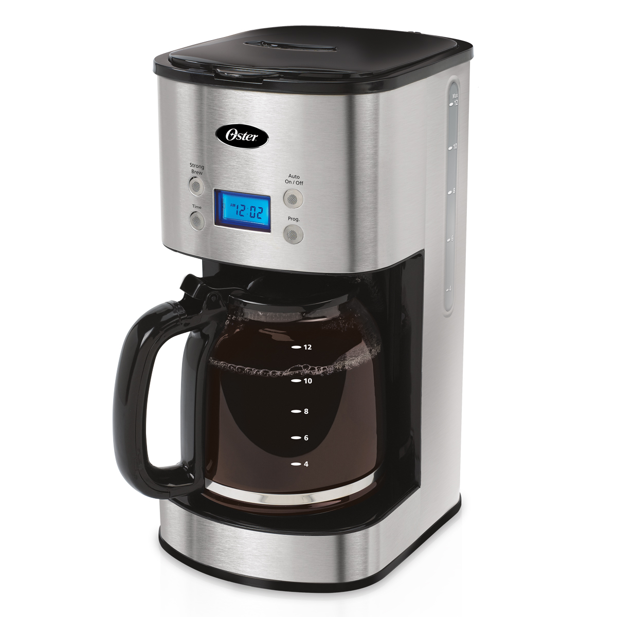Programmable Filter Coffee Maker : Oster 12 Cup Programmable Coffee Maker BVST-JBXSS41 eBay